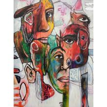 Product Image - Modrest Faces - Abstract Oil Painting