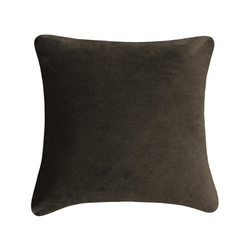 Velvet Solid Cushion - Dark Taupe