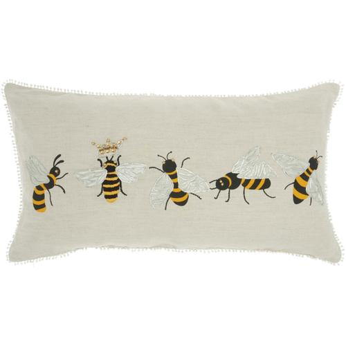 """Plushlines Ch344 Multicolor 12"""" X 22"""" Throw Pillow"""