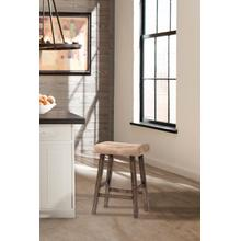 See Details - Saddle Non-swivel Backless Bar Stool - Rustic Gray