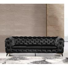 See Details - Divani Casa Delilah - Modern Black Fabric Sofa
