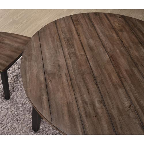 5058-48 ROUND DINING TABLE - BLACK