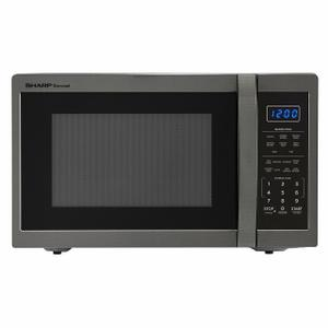 Sharp Appliances1.4 cu. ft. 1100W Sharp Black Stainless Steel Countertop Microwave Oven