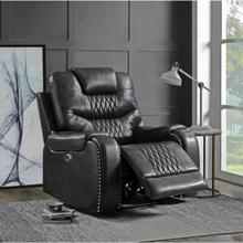 ACME Braylon Recliner (Power Motion) - 55413 - Contemporary - PU, Frame: Wood (Hemlock/Fir, Ply), Foam (D28), Metal Reclining Mechanism - Magnetite PU