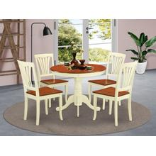 5 Pc small Kitchen Table set-round Kitchen Table and 4 Chairs for Dining room
