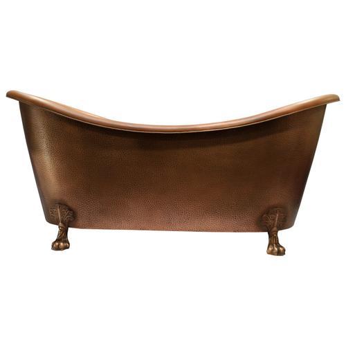 "Celana 68"" Double Slipper Copper Tub"
