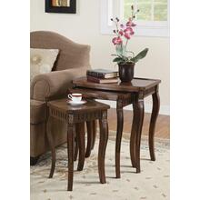 Traditional Warm Brown Nesting Table
