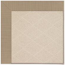 "Creative Concepts-White Wicker Dupione Sand - Rectangle - 24"" x 36"""