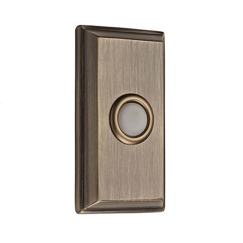 Matte Brass & Black BR7015 Rectangular Bell Button