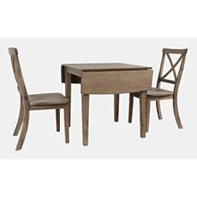 Product Image - Eastern Tides Dropleaf Dining Table W/(2) X Back Chairs
