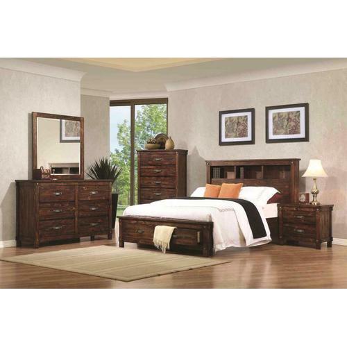 Noble Rustic Oak Queen Storage Bed