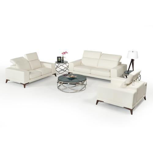 VIG Furniture - Estro Salotti Bolton Italian Modern White Leather Sofa Set