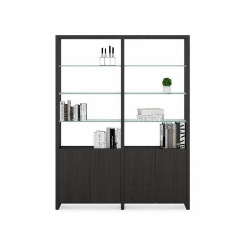 BDI Furniture - Linea Shelves 5802A Double Shelf Extension in Charcoal Stained Ash