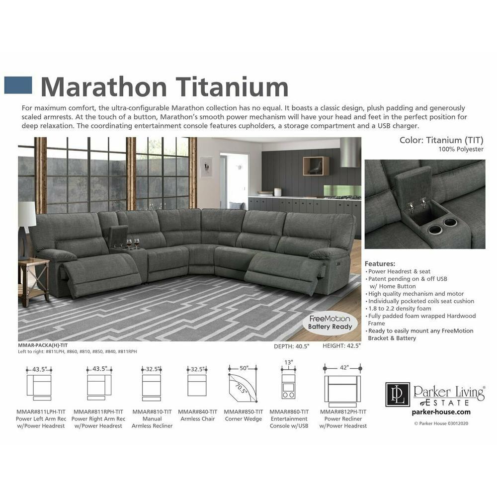 See Details - MARATHON - TITANIUM Corner Wedge