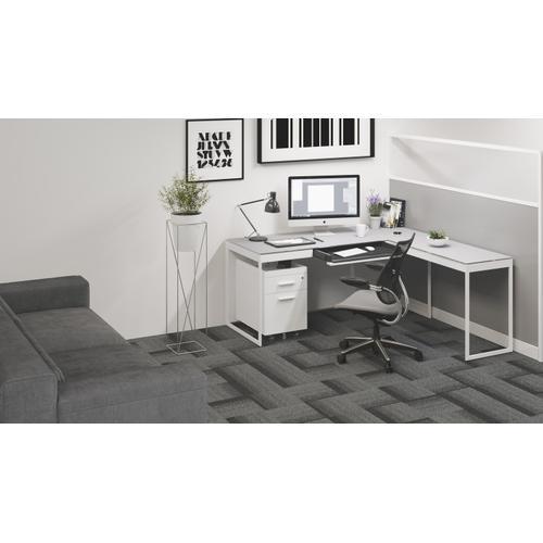 BDI Furniture - Centro 6407 Mobile File Pedestal in Satin White Painted Oak