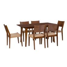 Cosgrove Brown 7 Piece Dining Set