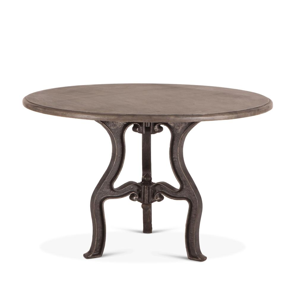 """French Vintage 48"""" Round Dining with Marble Top"""