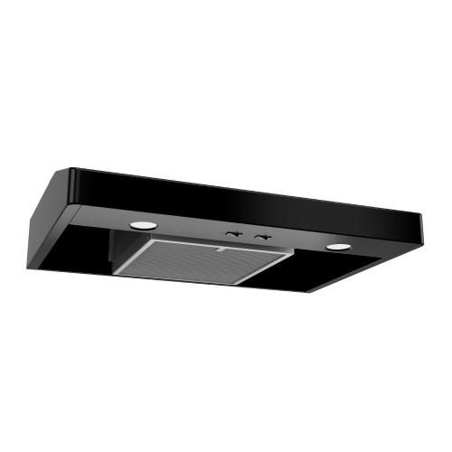 Tenaya 1 36-inch 250 CFM Black Under-Cabinet Range Hood with light