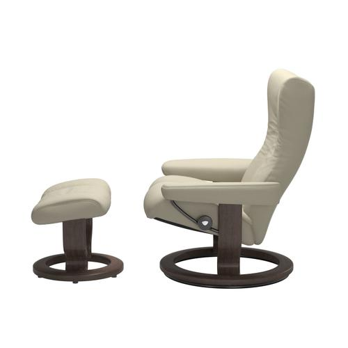 See Details - Stressless® Wing (L) Classic chair with footstool