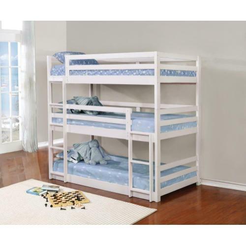 Sandler White Three-bed Bunk Bed