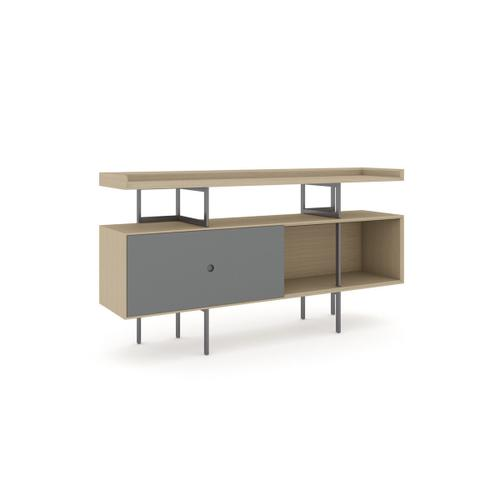 5211 Console in Drift Oak Fog Grey