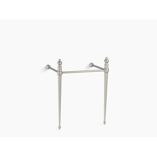 Vibrant Brushed Nickel Console Table Legs for K-2269 Memoirs Sink