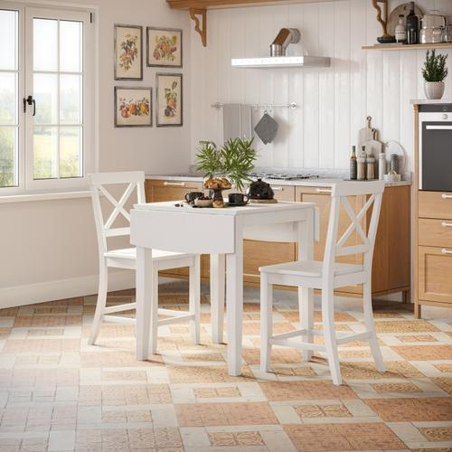 Jofran - Eastern Tides Dropleaf Counter Table W/(2) X Back Stools