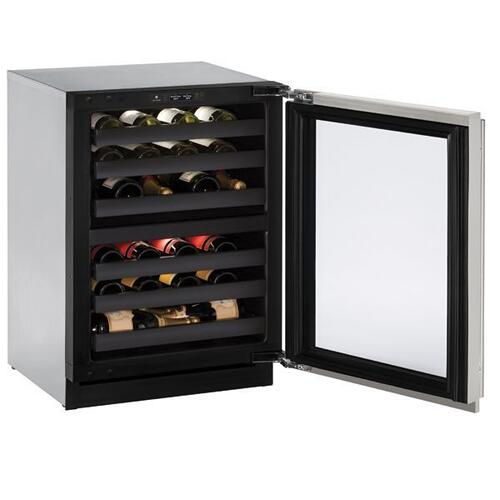 "24"" Dual-zone Wine Refrigerator With Stainless Frame Finish and Left-hand Hinge Door Swing (115 V/60 Hz Volts /60 Hz Hz)"