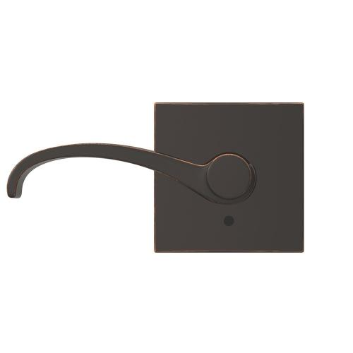 Custom Whitney Non-Turning Lever with Collins Trim - Aged Bronze