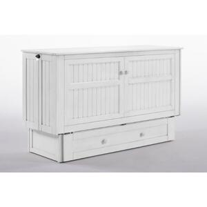 Night and Day Furniture - Daisy Murphy Cabinet Bed in White Finish
