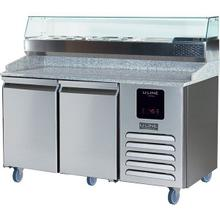 See Details - 2 Door Pizza Prep-table Refrigerator + Condiment Rail With Stainless Solid Finish (115v/60 Hz Volts /60 Hz Hz)