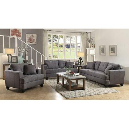 See Details - Samuel Transitional Charcoal Sofa