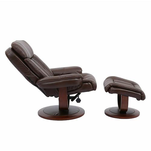 PRINCE - ROUGE Manual Reclining Swivel Chair and Ottoman
