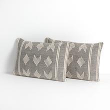 "Namita Pillow-black-set of 2-16""x24"""