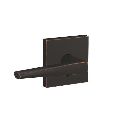 Custom Eller Non-Turning Lever with Collins Trim - Aged Bronze