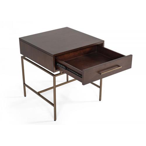 VIG Furniture - Modrest Nathan - Modern Acacia & Brass End Table
