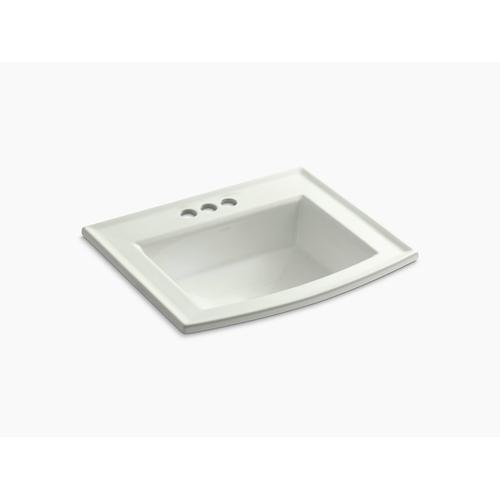"Dune Drop-in Bathroom Sink With 4"" Centerset Faucet Holes"