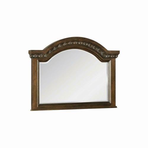 Satterfield Traditional Warm Bourbon Dresser Mirror