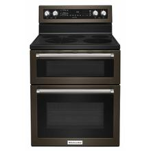 See Details - 30-Inch 5 Burner Electric Double Oven Convection Range - Black Stainless Steel with PrintShield™ Finish