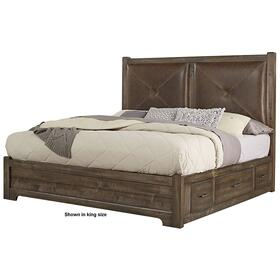 Leather Bed with 2 Side Storage