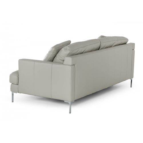 VIG Furniture - Divani Casa Janina - Modern Light Grey Leather Sofa