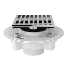 See Details - PVC 2 Inch X 3 Inch Drain Kit with Matrix Decorative Cover - Polished Chrome