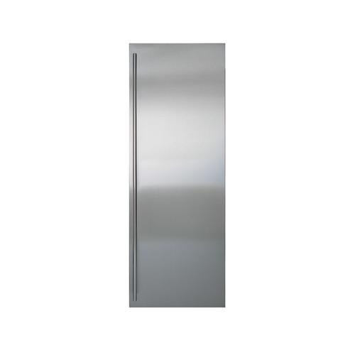 Stainless Steel Flush Inset Refrigerator Door Panel with Tubular Handle