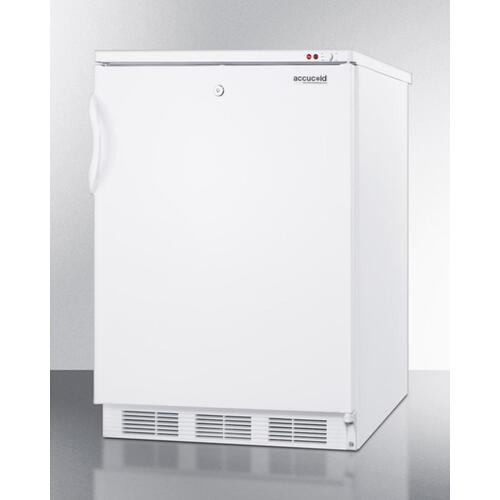 Commercial Built-in Undercounter Medical All-freezer Capable of -25 C Operation, With Front-mounted Lock