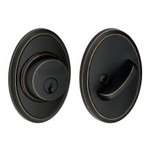Single Cylinder Deadbolt with Wakefield trim - Aged Bronze