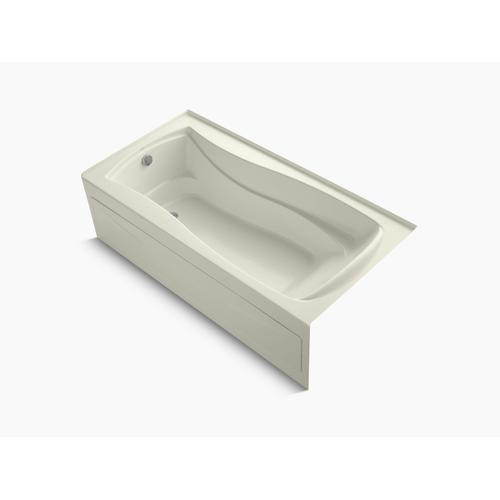 "Biscuit 72"" X 36"" Alcove Bath With Bask Heated Surface, Integral Apron, Integral Flange, and Left-hand Drain"