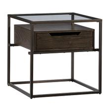 End Table - Contemporary Umber Finish