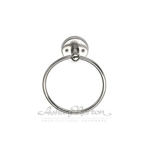 100 Towel Ring Shown with RR rose in white bronze patina Product Image