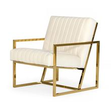View Product - Divani Casa Baylor - Modern Off-White Accent Chair