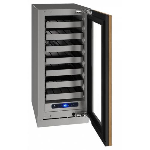 "U-Line - Hwc515 15"" Wine Refrigerator With Integrated Frame Finish and Field Reversible Door Swing (115 V/60 Hz Volts /60 Hz Hz)"